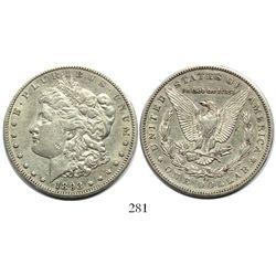 USA (Carson City mint), $1 Morgan, 1893-CC, rare.