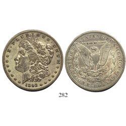 USA (San Francisco mint), $1 Morgan, 1893-S, rare.