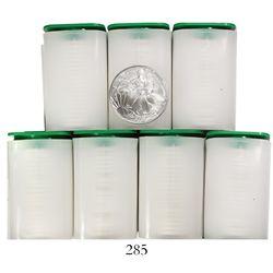 Lot of 140 USA (West Point mint), $1 Liberty (American Eagle 1-oz bullion), 2007.