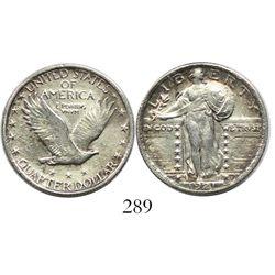 USA (Philadelphia mint), quarter dollar standing Liberty, 1921, rare