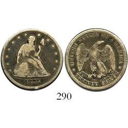 USA (Carson City mint), 20 cents, 1875-CC.
