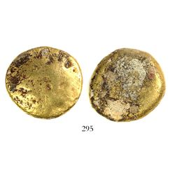 Small gold disk from the Espadarte (1558), 42.47 grams.