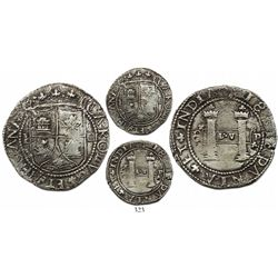 Santo Domingo, 4 reales, Charles-Joanna, assayer F to left, mintmark backwards-S to left and P to ri
