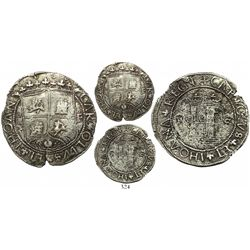 Santo Domingo, 4 reales, Charles-Joanna, assayer F to right, mintmark P to left and backwards-S to r