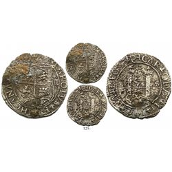 Santo Domingo, 4 reales, Charles-Joanna, assayer F to left, mintmark P to left and S to right, very