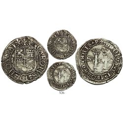 Santo Domingo, 2 reales, Charles-Joanna, assayer F to left, mintmark S to left and P to right, very