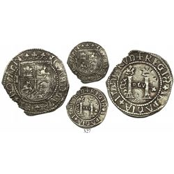 Santo Domingo, 2 reales, Charles-Joanna, assayer F to right, mintmark backwards-S to left (no P), ve