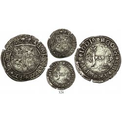 Santo Domingo, 2 reales, Charles-Joanna, assayer F to left, mintmark backwards-S to left and P to ri
