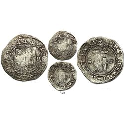 Santo Domingo, 2 reales, Charles-Joanna, assayer F to right, mintmark S to left and P to right, very