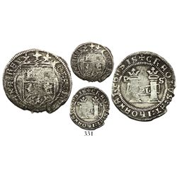 Santo Domingo, 1 real, Charles-Joanna, assayer F to left, mintmark P to upper-left and S to upper ri