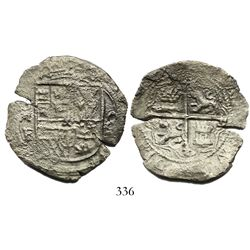Mexico City, Mexico, cob 8 reales, Philip II or III, assayer F.