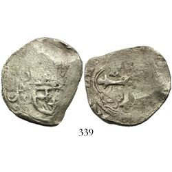 Mexico City, Mexico, cob 4 reales, Philip III, assayer D.