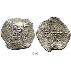 Mexico City, Mexico, cob 8 reales, (16)20D, Grade 2.