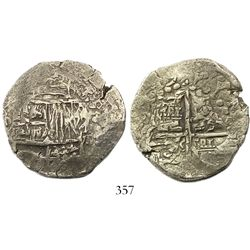 Potosi, Bolivia, cob 8 reales, Philip III, (16)19(T), Grade 1.