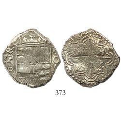 Potosi, Bolivia, cob 4 reales, (1)618PAL, Grade 1, rare.