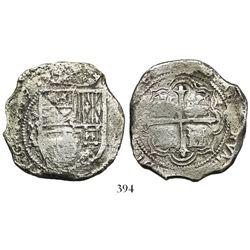Mexico City, Mexico, cob 8 reales, 1608A, rare.