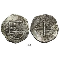Mexico City, Mexico, cob 8 reales, 1611D/F, very rare (anachronistic assayer).