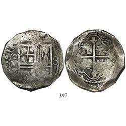 Mexico City, Mexico, cob 8 reales, 1618/7D/F, rare.
