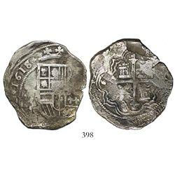 Mexico City, Mexico, cob 8 reales, 1618/7D, rare.