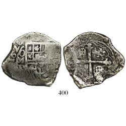 Mexico City, Mexico, cob 4 reales, 1620(D), rare.
