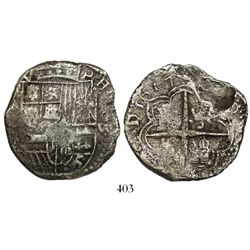 Potosi, Bolivia, cob 8 reales, 1617(M).