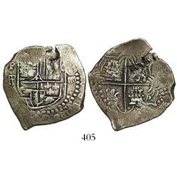 Potosi, Bolivia, cob 4 reales, (1618)PAL, rare.
