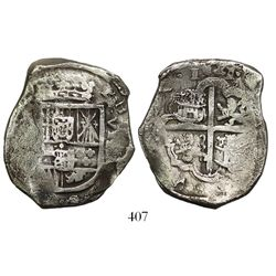 Spain (mint uncertain), cob 8 reales, 1621, assayer not visible.