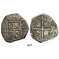 Granada, Spain, cob 4 reales, 1612M.