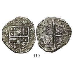 Seville, Spain, cob 4 reales, 1612/1V.