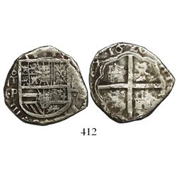 Toledo, Spain, cob 4 reales, 1620P.