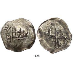 Mexico City, Mexico, cob 8 reales, 1639P, rare.