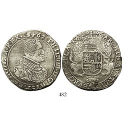 Flanders, Spanish Netherlands (Bruges mint), portrait ducatoon, Philip IV, 1662.