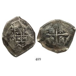 Mexico City, Mexico, cob 8 reales, 1711(?)J.
