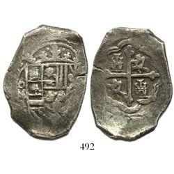 Mexico City, Mexico, cob 8 reales, (17)14(?)J.