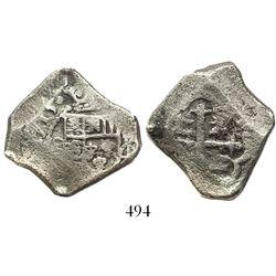 Mexico City, Mexico, cob 4 reales, 1715(J).