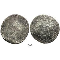 Flanders (Bruges mint), Spanish Netherlands, portrait ducatoon, Philip IV, 1635, rare.