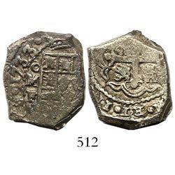 Mexico City, Mexico, cob 4 reales, 1733/2F, rare.