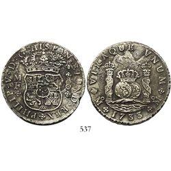 Mexico City, Mexico, pillar 8 reales, Philip V, 1733MF.