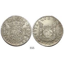 Mexico City, Mexico, pillar 8 reales, Philip V, 1742/2MF.