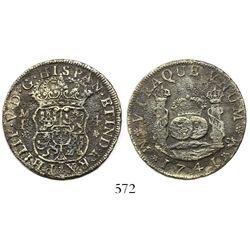 Mexico City, Mexico, pillar 4 reales, Philip V, 1741MF.