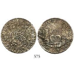 Mexico City, Mexico, pillar 4 reales, Philip V, 1742MF, wide date.