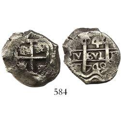 Potosí, Bolivia, cob 4 reales, 1749q.
