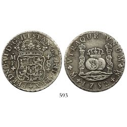 Mexico City, Mexico, pillar 8 reales, Ferdinand VI, 1752MF.