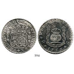 Mexico City, Mexico, pillar 8 reales, Ferdinand VI, 1753/2MF.