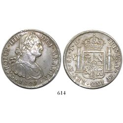 Mexico City, Mexico, bust 8 reales, Charles III, 1807TH.