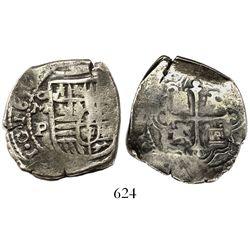 Mexico City, Mexico, cob 4 reales, 1656P.