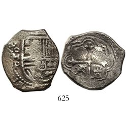 Mexico City, Mexico, cob 4 reales, 1658P.