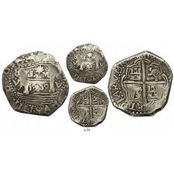 """Lima, Peru, cob 8 reales, 1659V, """"Star of Lima"""" type, rare, Calico Plate Coin."""