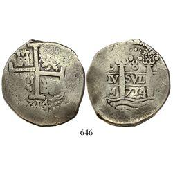 Lima, Peru, cob 8 reales, 1714/3M.