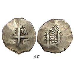 Lima, Peru, cob 8 reales, 1722M.